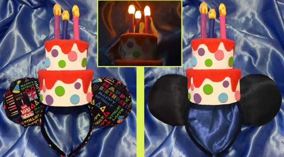 Light Up Birthday Cake Mouse Ears Headband