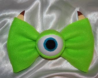Green Monster Hair Bow