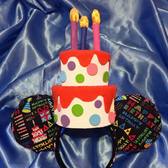 Light Up Birthday Cake Mouse Ears Headband