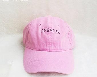 01bcaa56 Dreamer Baseball Hat Embroidery Hat Unisex Cotton Cap Pinterest Instagram  Tumblr