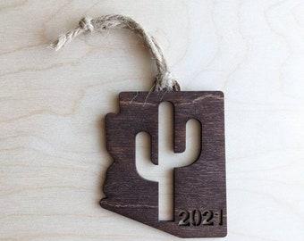 2021 Arizona Christmas Ornament with Saguaro. FREE SHIPPING