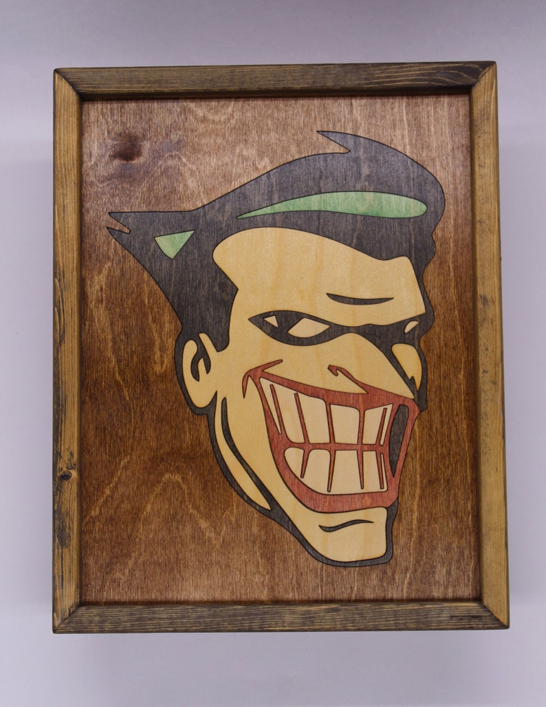The Joker Wooden Inlay Wall Art image 0