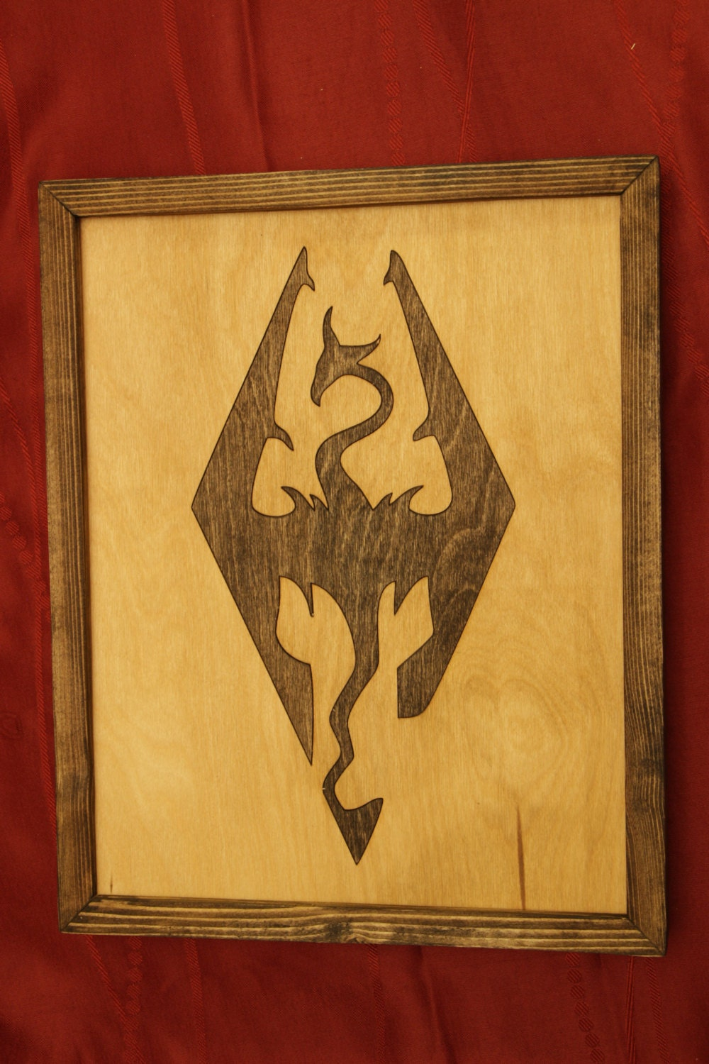 Skyrim Wooden Inlay Wall Art | Etsy