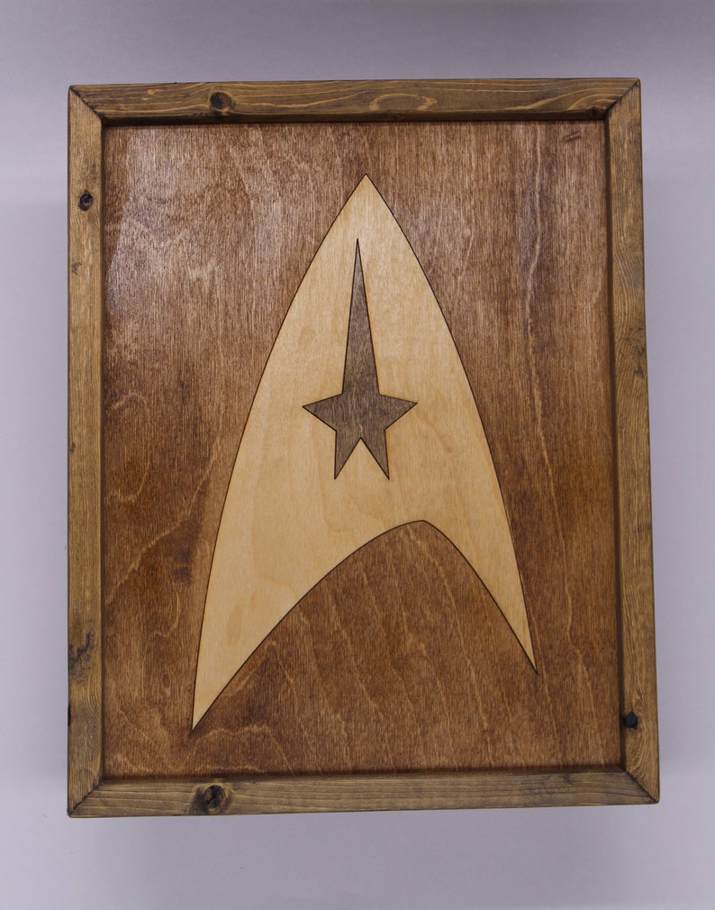 Star Trek Wooden Inlay Wall Art image 0