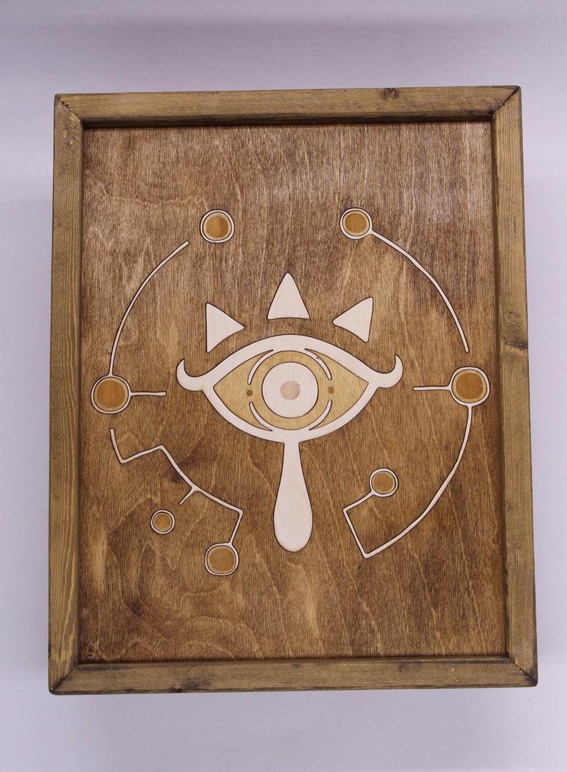 Zelda Breath of the Wild Sheikah Emblem wooden Inlay Wall Art image 0