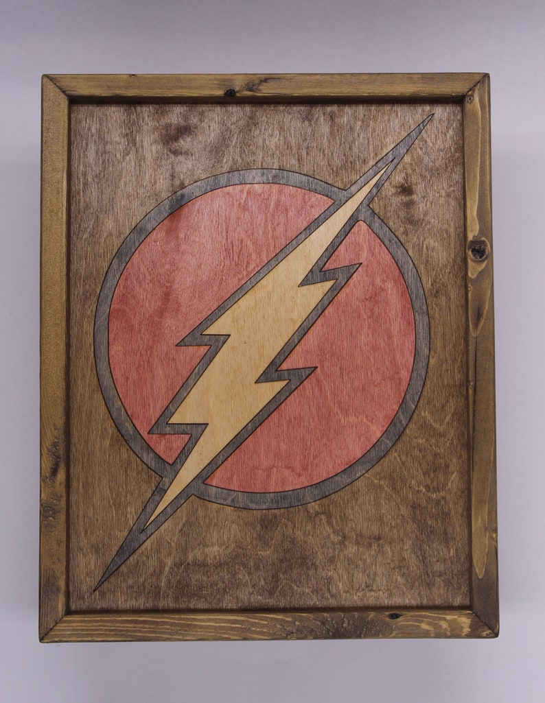 The Flash Wooden Inlay Wall Art image 0