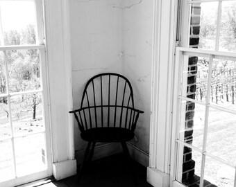 Chair of Solitude in Garden Pavilion at Monticello