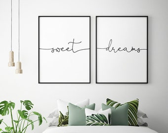 Above bed decor etsy - Wall art above bed ...