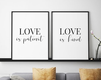 Love Is Patient Love Is Kind Etsy