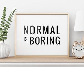 Normale è noioso Felpa con Cappuccio-Divertente Tumblr Slogan regalo alla moda unisex con cappuccio Top