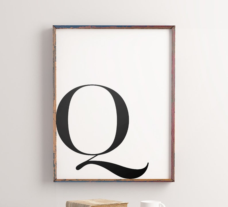 photograph regarding Letter Q Printable named Alphabet Letter \