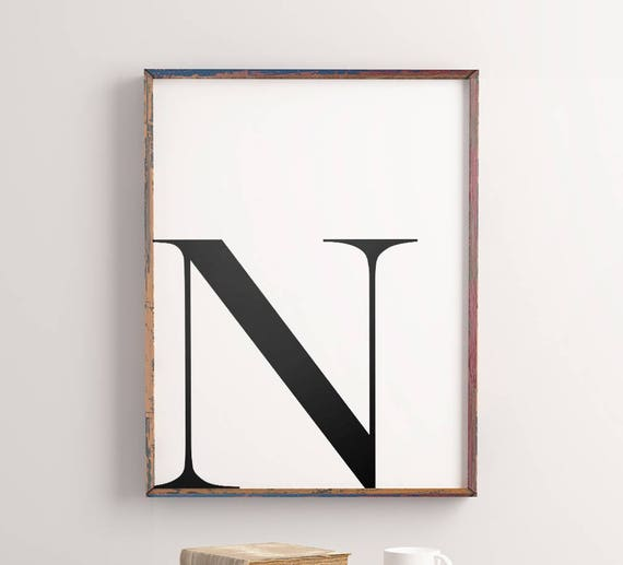 graphic about Etsy Printable Wall Art called Letter \