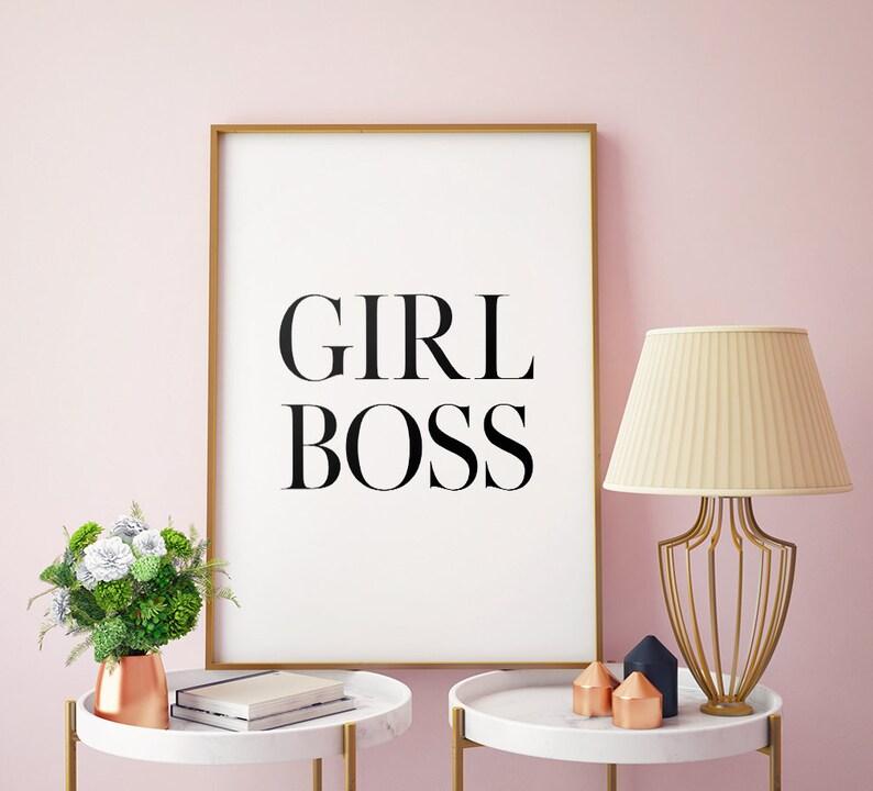 Girl Boss Printable Art Girl Boss Quote Print Typography image 1