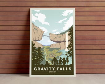 Gravity Falls National Park Poster