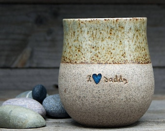 Personalized Pottery Mug: A Viking mug inspired by Norse & Scandinavian history, handmade and customized for just you. 400mL/13.5oz.
