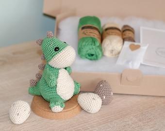 DIY Crochet Set • Nauro the Dinosaur by Sameko Design