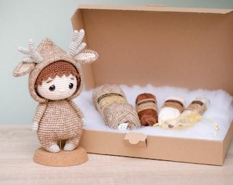DIY Crochet Set • Renly the Deer Boy by Sameko Design