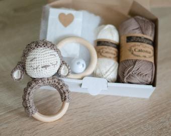 DIY Crochet Set • Lola the Rattle sheep by Sameko Design