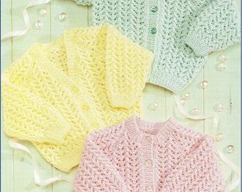 1466077da Patons 1296 Vintage Baby Knitting Pattern 3 ply Girls