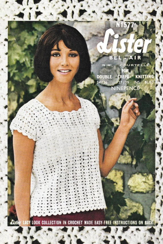1577 Best Images About Nails Toe Nail Art On Pinterest: Lister 1577 Vintage PDF Crochet Pattern Ladies Summer Top