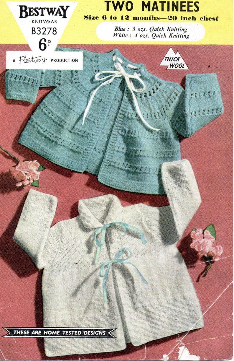 bbeb815e0 PDF Bestway 3278 Vintage Baby Knitting Pattern 6 12 months
