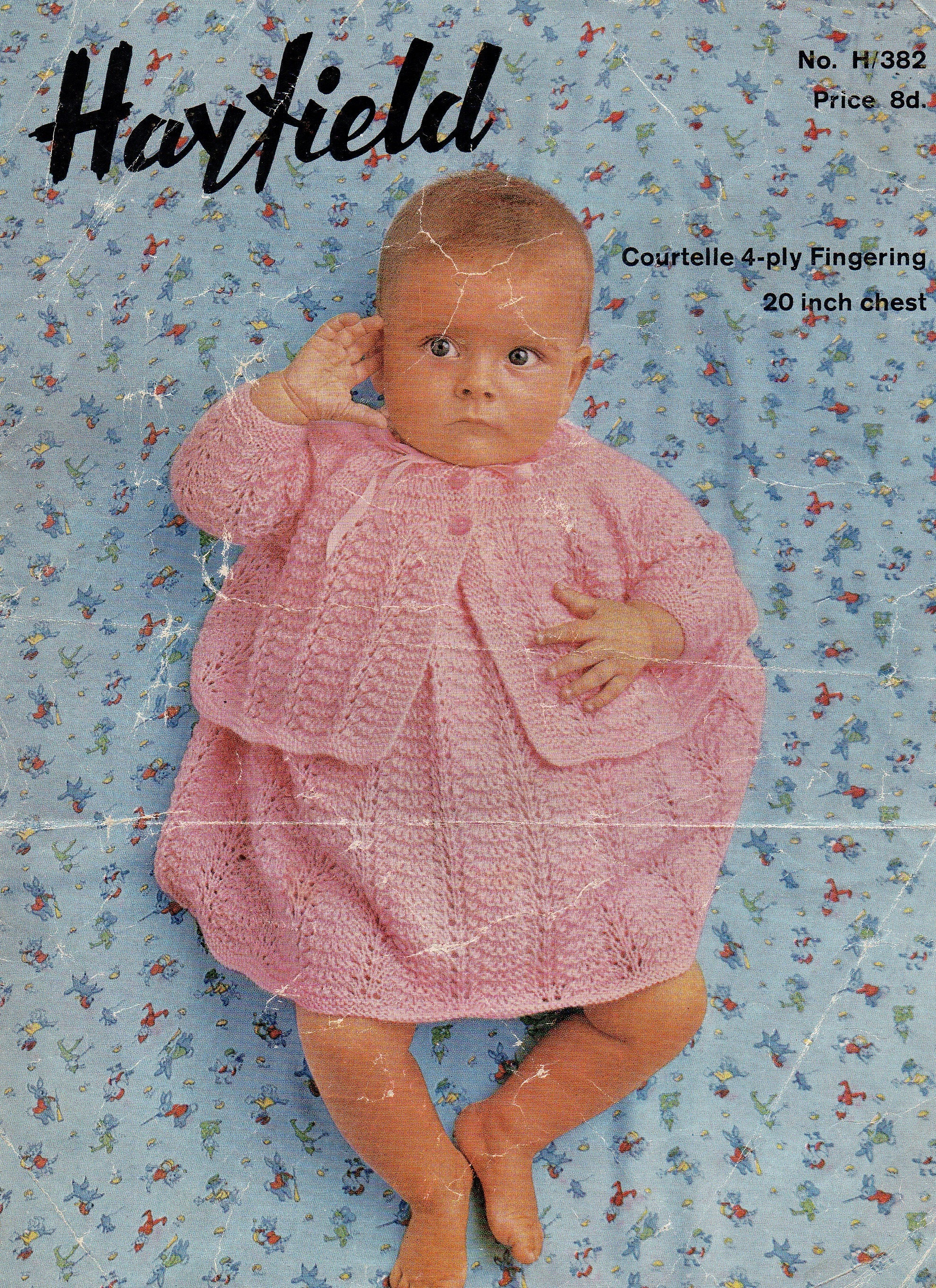 e8e2a0f67 Hayfield 382 PDF Instant Download Baby Girls Vintage Knitting