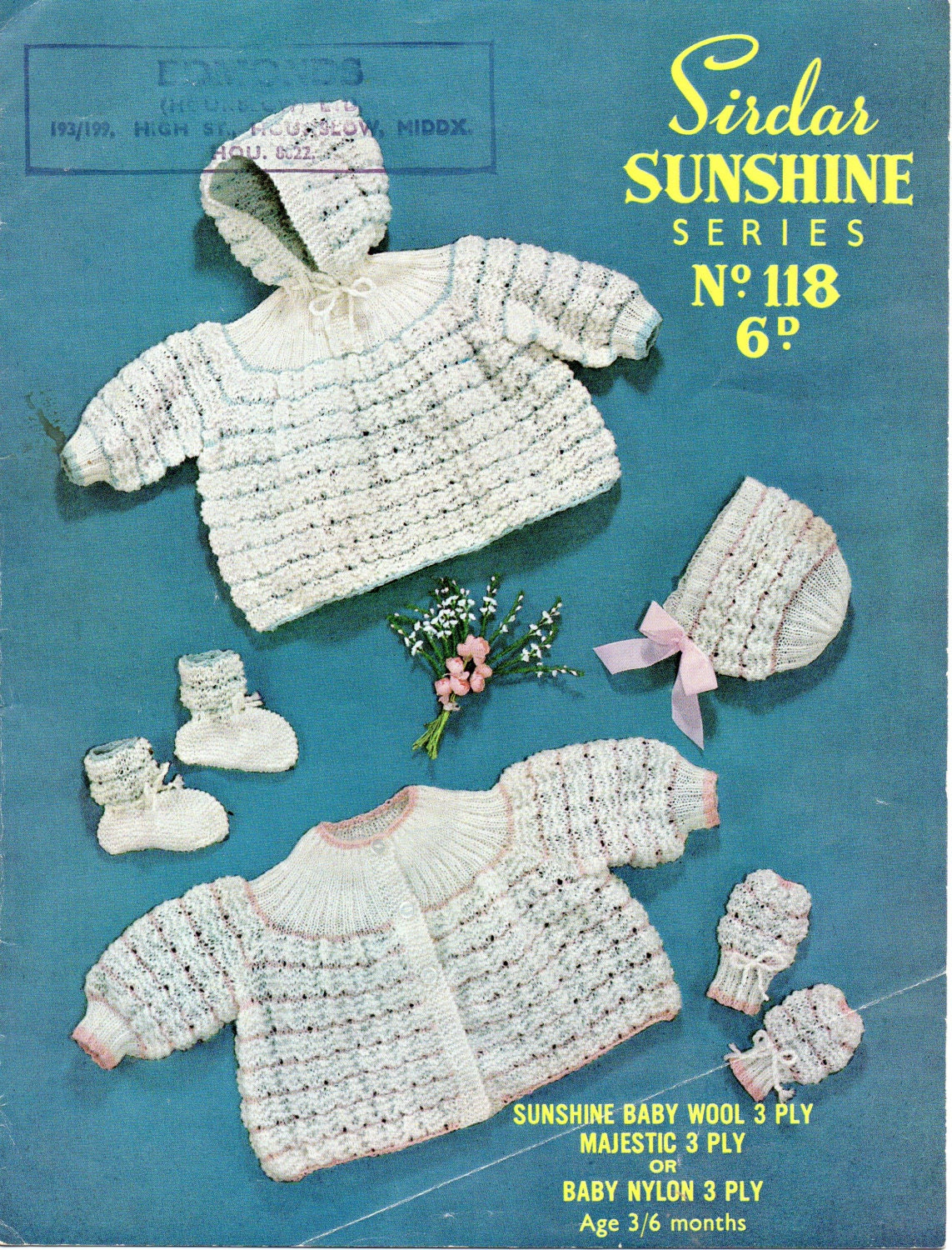 44dec6fcc Sirdar Sunshine Series Vintage Baby Knitting Patterns 3 and 4