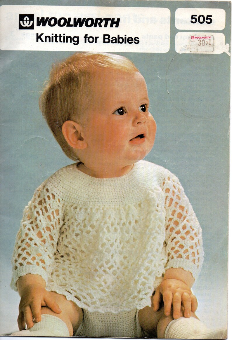 435e4f4c2 Woolworth 505 Baby Knitting and Crochet Book PDF Instant