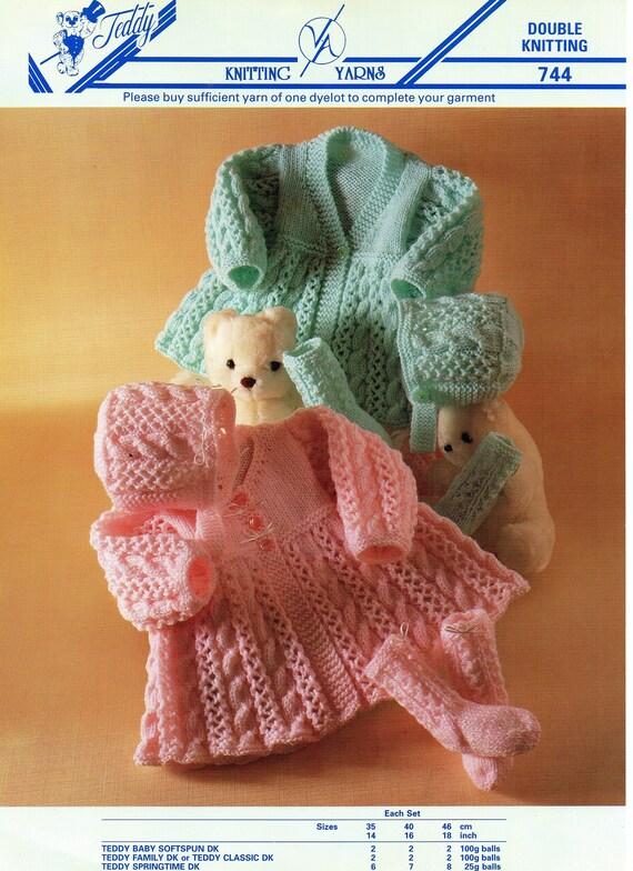 Teddy DK Knitting Pattern Childrens Jacket 7186