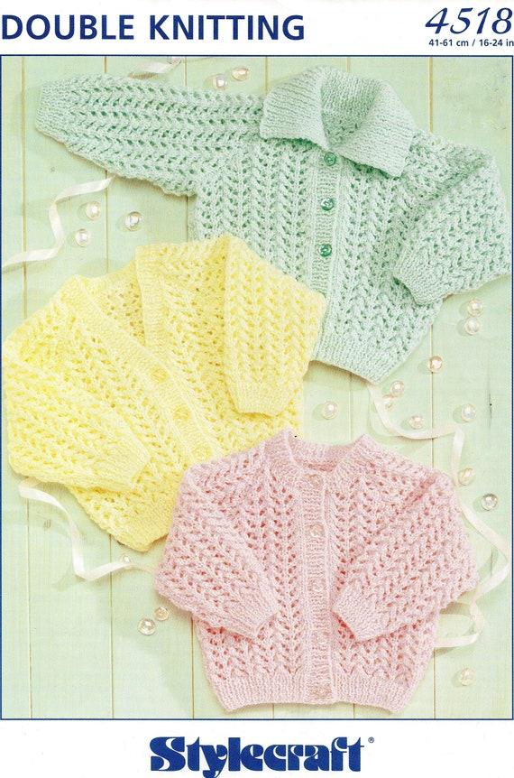 4bc887162 Vintage Knitting Pattern Baby Child Girls Cardigans 0 2