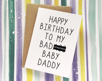 Funny Baby Daddy Card