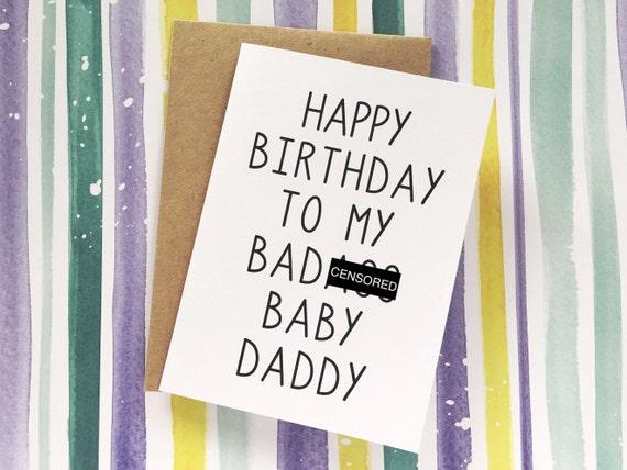 Funny Baby Daddy Card Husband Birthday Card Happy Birthday Etsy