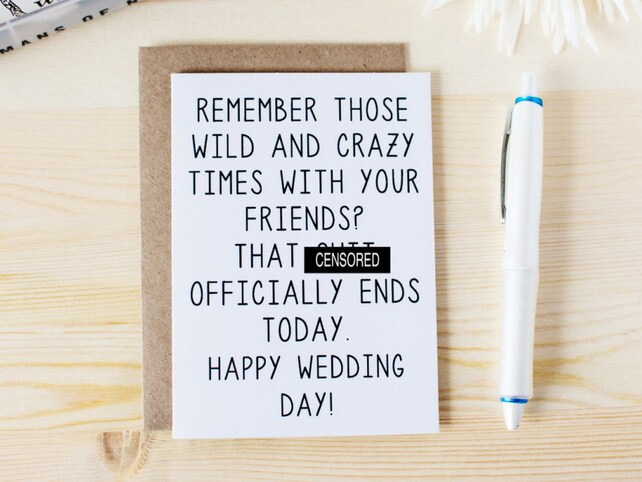 Funny Wedding Card For Groom Funny Wedding Day Card Wedding Card