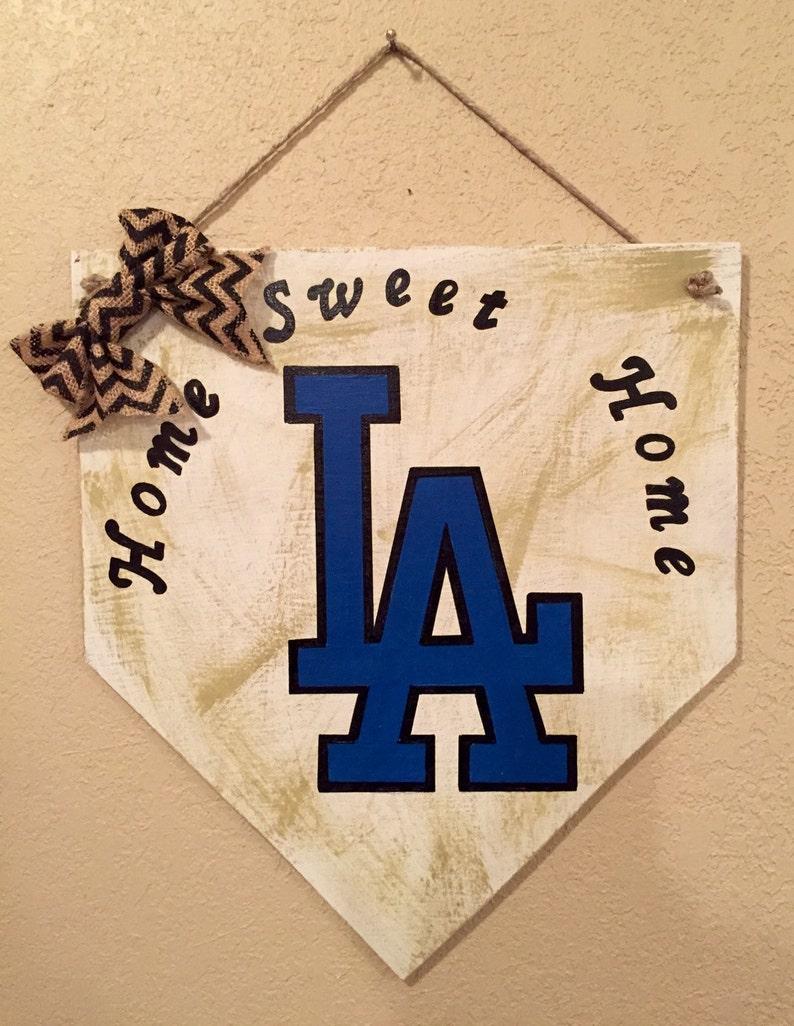 LA Dodgers home plate sign, Los Angeles Dodgers home plate sign, home sweet  home sign, baseball home plate sign, LA Dodgers decor, LA Dodger