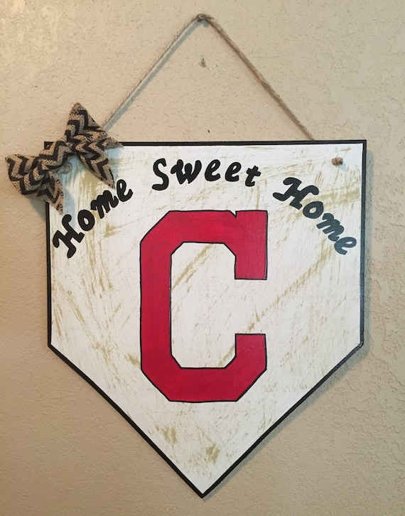 Cleveland Indians Chicago White Sox Chicago White Sox sign Home plate sign Cleveland Indians sign baseball sign House divided sign