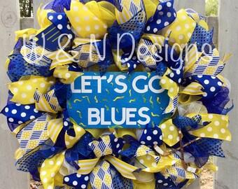 Lets go blues wreath, St. Louis Blues wreath, St Louis Blues