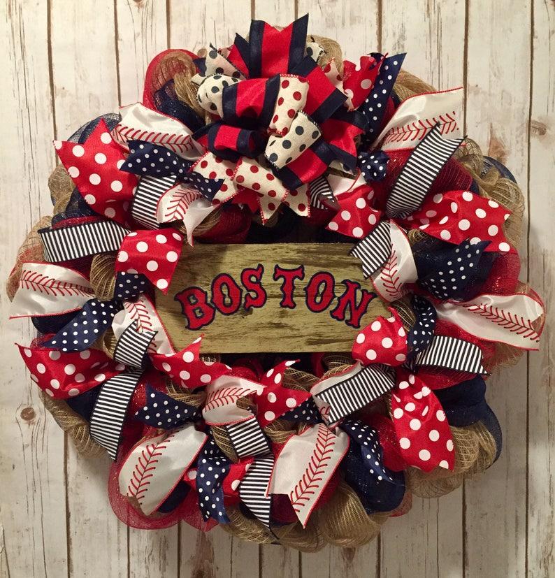 Boston Red Sox Red Sox Boston Red Sox wreath Red Sox  c7e9e5754749