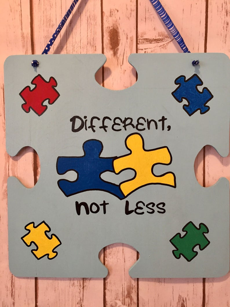 Autism awareness sign Puzzle piece, light is up blue Autism awareness Autism sign Autism puzzle piece puzzle piece sign Autism