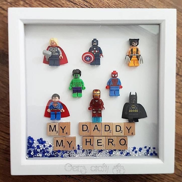 Superhelden-Rahmen Lego Wunderwerk Rahmen Marvel Geschenke   Etsy