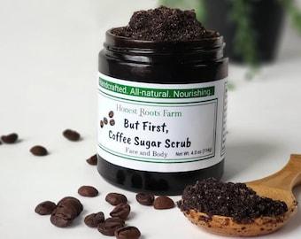 Organic Coffee Scrub / Natural Sugar Scrub / Coffee Body Scrub / Organic Sugar Scrub / Coffee Scrub / Body Scrub / Sugar Scrub