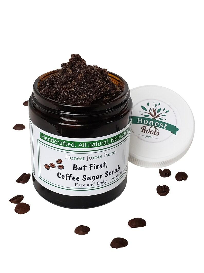 Organic Coffee Scrub / Natural Sugar Scrub / Coffee Body Scrub image 0