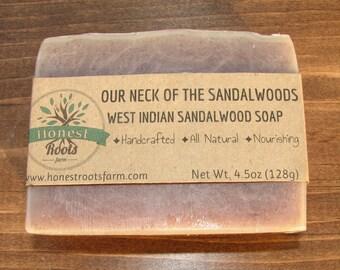 Sandalwood Soap - Handmade Soap -  Homemade Soap - All Natural Soap - Essential Oil Soap- 4.5 oz Bar Soap - Gift for Him - Man Soap