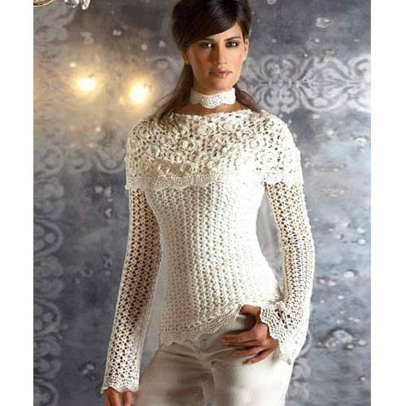 Crochet Blouse Patterndetailed Tutorialcrochet Off Shoulder Etsy