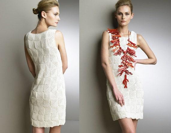 Knit Dress Patterndetailed Tutorialknit Summer Dressknit Etsy