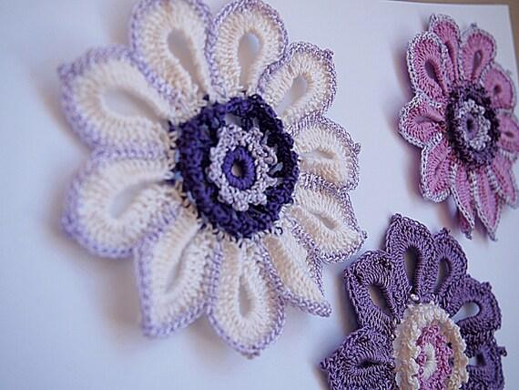 Crochet Flower Patterndetailed Tutorialcrochet Etsy