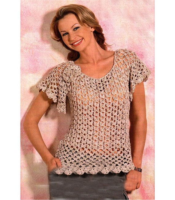 Crochet Top Patterndetailed Tutoriallace Summer Top Etsy