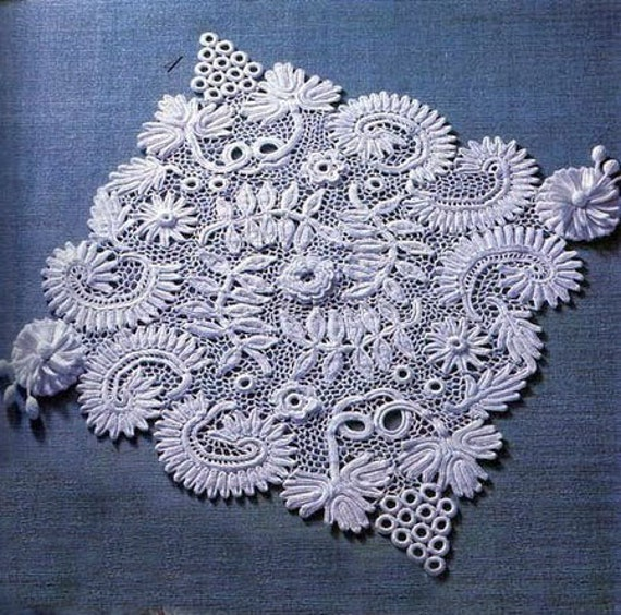 Irish Crochet Rugdetailed Tutorialirish Crochet Patterncrochet