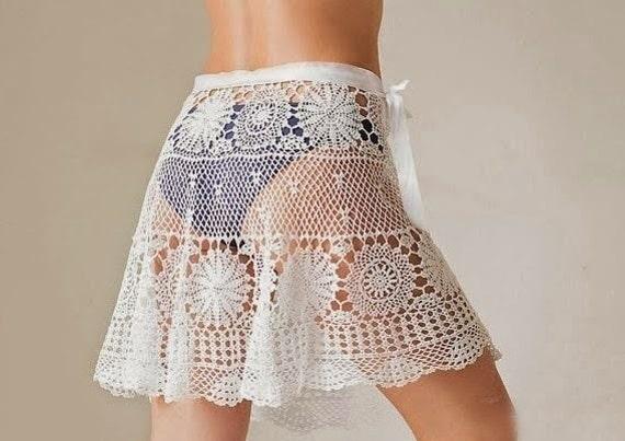 Crochet Skirt Patterndetailed Tutorialcrochet Beach Etsy