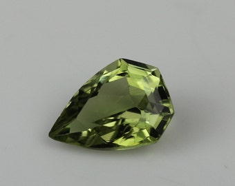 Green tourmaline spear shape,loose green tourmaline,tcw-1.55 ct