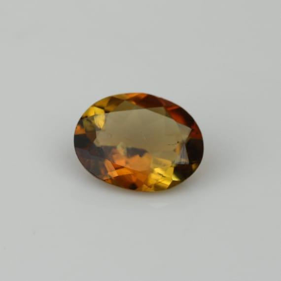 bi colour tourmaline,orange and yellow tourmaline,maple tourmaline,tcw-1.3